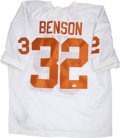Football Collectibles:Uniforms, Cedric Benson and Earl Campbell Signed University of Texas Jerseys Lot of 2....