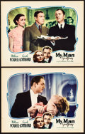 """Movie Posters:Comedy, My Man Godfrey (Universal, 1936). Lobby Cards (2) (11"""" X 14"""").. ...(Total: 2 Items)"""