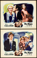 "Movie Posters:Comedy, My Man Godfrey (Universal, 1936). Lobby Cards (2) (11"" X 14"").. ...(Total: 2 Items)"