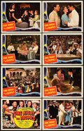 "Movie Posters:Comedy, One Night in the Tropics (Universal, 1940). Lobby Card Set of 8(11"" X 14"").. ... (Total: 9 Items)"