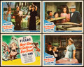 "Movie Posters:Comedy, Never Give a Sucker an Even Break (Universal, 1941). Title LobbyCard and Lobby Cards (3) (11"" X 14"").. ... (Total: 4 Items)"