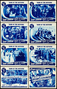 """Flash Gordon Conquers the Universe (Universal, 1940). Lobby Card Set of 8 (11"""" X 14""""). Chapter 12 -- """"Doo..."""