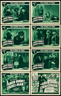 "The Green Hornet Strikes Again (Universal, 1941). Lobby Card Set of 8 (11"" X 14""). Chapter 2-- ""The Plung..."