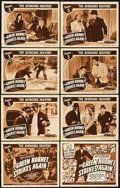 "Movie Posters:Serial, The Green Hornet Strikes Again (Universal, 1941). Lobby Card Set of 8 (11"" X 14""). Chapter 3-- ""The Avenging Heavens."". ... (Total: 9 Items)"