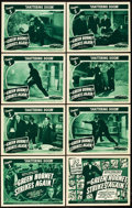 "Movie Posters:Serial, The Green Hornet Strikes Again (Universal, 1941). Lobby Card Set of8 (11"" X 14""). Chapter 5 -- ""Shattering Doom."". ... (Total: 9Items)"