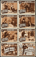 "Movie Posters:Serial, The Green Hornet Strikes Again (Universal, 1941). Lobby Card Set of8 (11"" X 14""). Chapter 6 -- ""The Fatal Flash."". ... (Total: 9Items)"