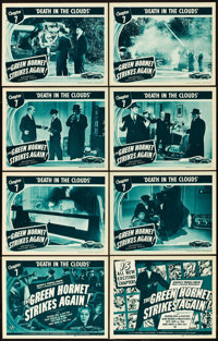 "The Green Hornet Strikes Again (Universal, 1941). Lobby Card Set of 8 (11"" X 14""). Chapter 7 -- ""Death in..."
