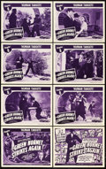 "Movie Posters:Serial, The Green Hornet Strikes Again (Universal, 1941). Lobby Card Set of8 (11"" X 14""). Chapter 8 -- ""Human Targets."". ... (Total: 9 Items)"