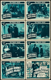 "The Green Hornet Strikes Again (Universal, 1941). Lobby Card Set of 8 (11"" X 14""). Chapter 9 -- ""The Trag..."
