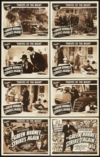 "The Green Hornet Strikes Again (Universal, 1941). Lobby Card Set of 8 (11"" X 14""). Chapter 11 -- ""Thieves..."