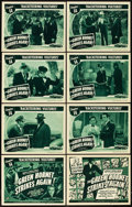 "Movie Posters:Serial, The Green Hornet Strikes Again (Universal, 1941). Lobby Card Set of 8 (11"" X 14""). Chapter 14 -- ""Racketeering Vultures."". ... (Total: 9 Items)"