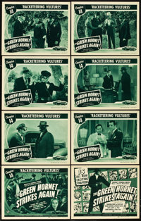 "The Green Hornet Strikes Again (Universal, 1941). Lobby Card Set of 8 (11"" X 14""). Chapter 14 -- ""Rackete..."