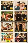 "Movie Posters:Comedy, Jitterbugs (20th Century Fox, 1943). Lobby Card Set of 8 (11"" X14"").. ... (Total: 9 Items)"