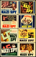 "Movie Posters:Drama, Confessions of a Nazi Spy (Warner Brothers, 1939). Special TitleLobby Card Set of 8 (11"" X 14"").. ... (Total: 8 Items)"