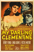 "Movie Posters:Western, My Darling Clementine (20th Century Fox, 1946). One Sheet (27"" X 41"").. ..."