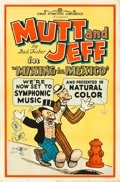 "Movie Posters:Animated, Mutt and Jeff in Mixing in Mexico (Screen Attractions Corp.,R-1930). One Sheet (27"" X 41"").. ..."