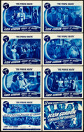 "Movie Posters:Serial, Flash Gordon Conquers the Universe (Universal, 1940). Lobby CardSet of 8 (11"" X 14""). Chapter 1 -- ""The Purple Death."". ... (Total:9 Items)"