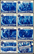 "Movie Posters:Serial, Flash Gordon Conquers the Universe (Universal, 1940). Lobby CardSet of 8 (11"" X 14""). Chapter 5 -- ""The Palace of Terror.""...(Total: 9 Items)"