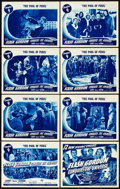"""Movie Posters:Serial, Flash Gordon Conquers the Universe (Universal, 1940). Lobby CardSet of 8 (11"""" X 14""""). Chapter 9 -- """"The Pool of Peril."""". ...(Total: 9 Items)"""
