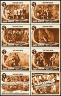 "Movie Posters:Serial, Flash Gordon Conquers the Universe (Universal, 1940). Lobby CardSet of 8 (11"" X 14""). Chapter 8 -- ""The Fiery Abyss."". ... (Total:9 Items)"
