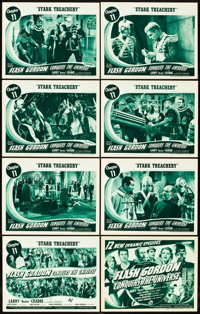 """Flash Gordon Conquers the Universe (Universal, 1940). Lobby Card Set of 8 (11"""" X 14""""). Chapter 11 -- """"Sta..."""