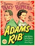 "Movie Posters:Comedy, Adam's Rib (MGM, 1949). MP Graded Poster (30"" X 40"").. ..."