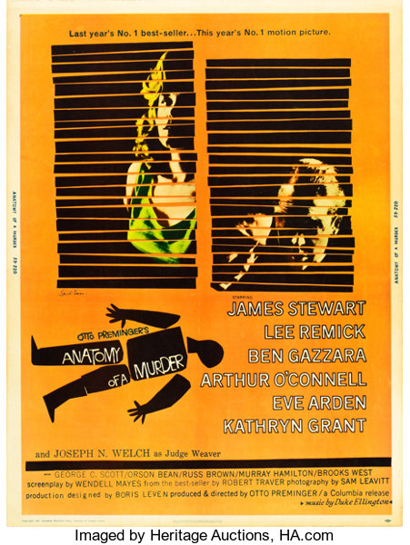 Anatomy Of A Murder Columbia 1959 Mp Graded Poster 30 Lot