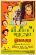 "Movie Posters:Western, Shane (Paramount, 1953). MP Graded Poster (40"" X 60"") Style Y.. ..."