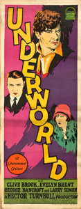 "Movie Posters:Crime, Underworld (Paramount, 1927). Insert (14"" X 36"").. ..."