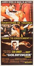 "Movie Posters:James Bond, Goldfinger (United Artists, 1964). MP Graded Three Sheet (41"" X81"").. ..."