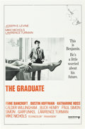 """Movie Posters:Comedy, The Graduate (United Artists, 1968). Autographed International MP Graded One Sheet (27"""" X 41"""") Flat Folded.. ..."""