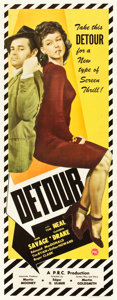 "Movie Posters:Film Noir, Detour (PRC, 1945). Insert (14"" X 36""). From the collection ofWade Williams.. ..."
