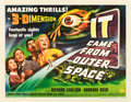 "Movie Posters:Science Fiction, It Came from Outer Space (Universal International, 1953). HalfSheet (22"" X 28"") 3-D Style B. From the collection of Wade..."