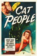 "Movie Posters:Horror, Cat People (RKO, R-1952). One Sheet (27"" X 41"").. ..."