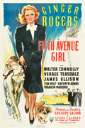 "Movie Posters:Comedy, Fifth Avenue Girl (RKO, 1939). One Sheet (27"" X 41"").. ..."