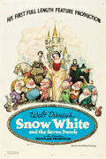 "Movie Posters:Animation, Snow White and the Seven Dwarfs (RKO, 1937). One Sheet (27"" X 41"")Style B.. ..."