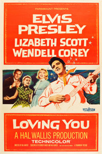 "Loving You (Paramount, 1957). Poster (40"" X 60"") Style Z"