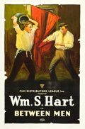 "Movie Posters:Drama, Between Men (Triangle, 1915). One Sheet (27"" X 41"").. ..."
