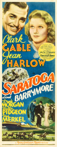 "Movie Posters:Comedy, Saratoga (MGM, 1937). Insert (14"" X 36"").. ..."
