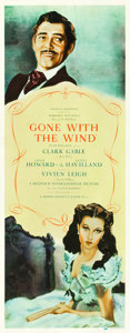 "Movie Posters:Academy Award Winners, Gone with the Wind (MGM, 1939). Insert (14"" X 36"").. ..."