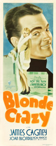 "Movie Posters:Comedy, Blonde Crazy (Warner Brothers, 1931). Insert (14"" X 36"").. ..."