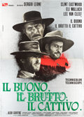 "Movie Posters:Western, The Good, the Bad and the Ugly (PEA, 1966). Rome Premiere Italian 4- Foglio (55"" X 78"").. ..."