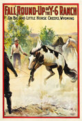 "Movie Posters:Western, Fall Round-Up on the Y-6 Ranch (Cheyenne Feature Film Company,1911). One Sheet (28"" X 42"").. ..."