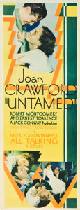 "Movie Posters:Drama, Untamed (MGM, 1929). Insert (14"" X 36"").. ..."