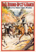 "Movie Posters:Western, Fall Round-Up on the Y-6 Ranch (Cheyenne Feature Film Company, 1911). One Sheet (28"" X 42"").. ..."