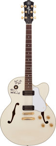 "Music Memorabilia:Autographs and Signed Items, Michael McDonald and Bernie Chiaravalle Signed Yamaha AES1500 Guitar, Dubbed ""White Fang"" by McDonald...."