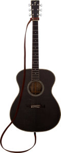 Music Memorabilia:Instruments , Johnny Cash Personally-Owned and Stage-Played Guitar Made by DannyFerrington. ...