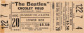 Music Memorabilia:Tickets, Beatles Crosley Field 1966 Concert Ticket....