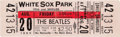 Music Memorabilia:Tickets, Beatles White Sox Park 1965 Unused Concert Ticket....