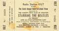 Music Memorabilia:Tickets, Beatles Sam Houston Coliseum 1965 Unused Concert Ticket....